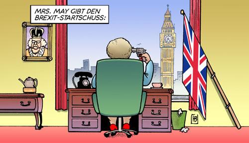 Mrs. May gibt den Brexit-Startschuss