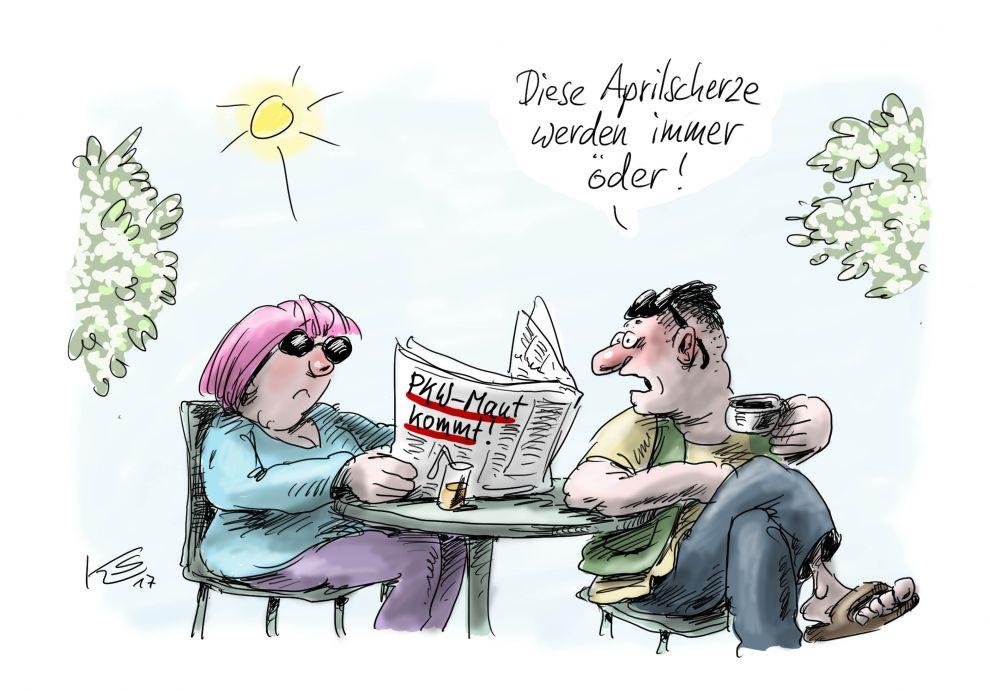 Aprilscherz: PKW Maut