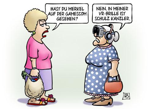 Merkel auf der Gamescom