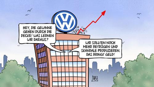 Trotz Dieselskandal: VW macht deutlich mehr Gewinn