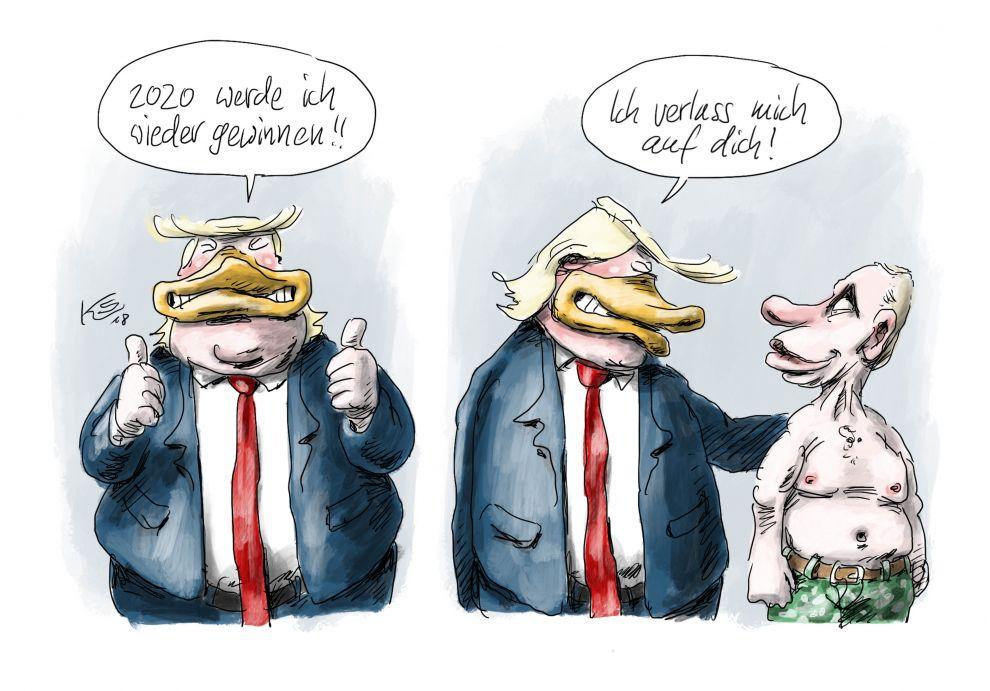 Trump verlässt sich auf Putin
