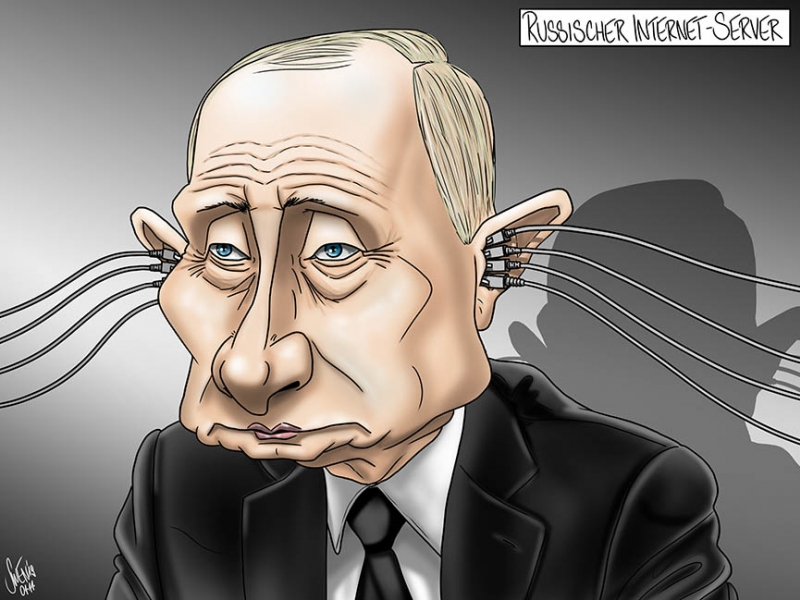 Russnet: Überwachungsstaat Russland mit eigenem Internet