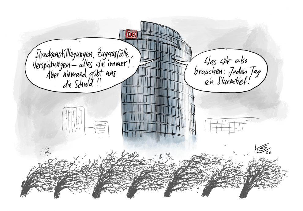 Deutsche Bahn und das Sturmtief Sabine