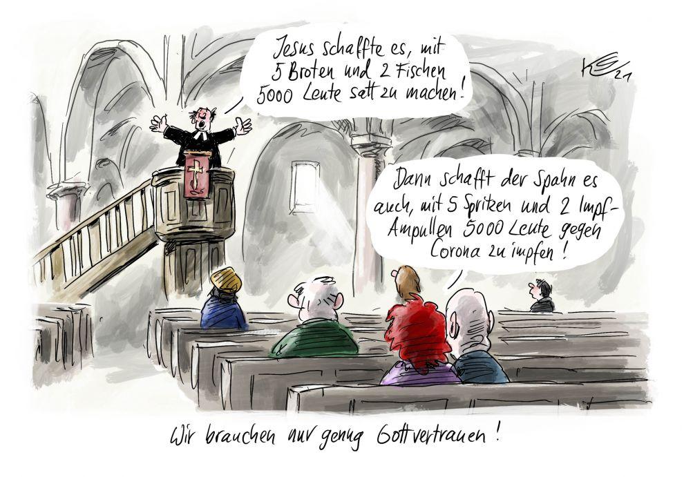 Corona: Ja, wenn Jesus das konnte, kann Deutschland das auch