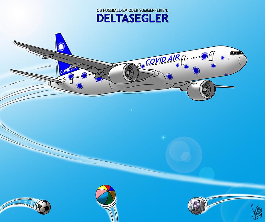 Covid: Deltasegler im Anflug