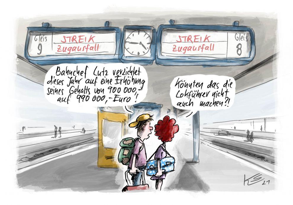 Deutsche Bahn: Streik der Lokführer