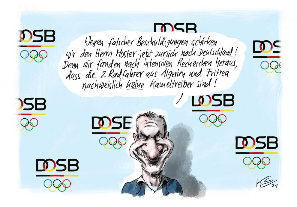 Olympia 2020 - Kameltreiber beim Radsport