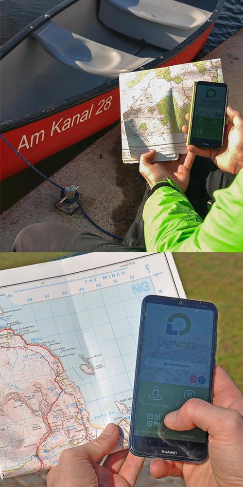 Alles was nötig ist: ein Boot, eine Karte und ein Handy um selbst eine Tour zu planen