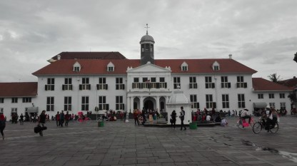 Central square with colonial governor's office