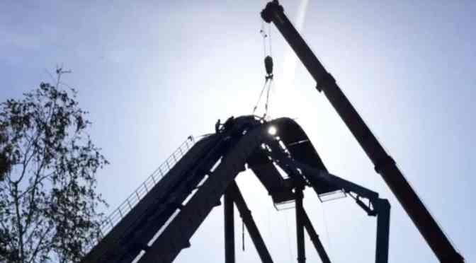 Toverland: Fenix erreicht den höchsten Punkt der Strecke