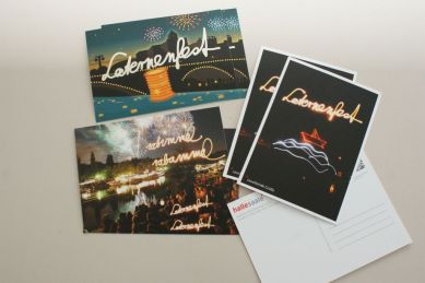 Drei neue leuchtende Laternenfestkarten - Copyright: Stadtmarketing Halle (Saale) GmbH