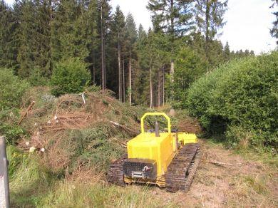 Auf den empfindlichen Standorten muss mit Spezialgerät gearbeitet werden. - Foto: Nationalparkamt Hunsrück-Hochwald
