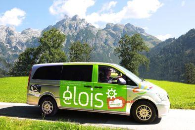 Mit dem elois-Gemeinschaftstaxi machen Ausflüge richtig Spaß - Foto: Gut Wenghof