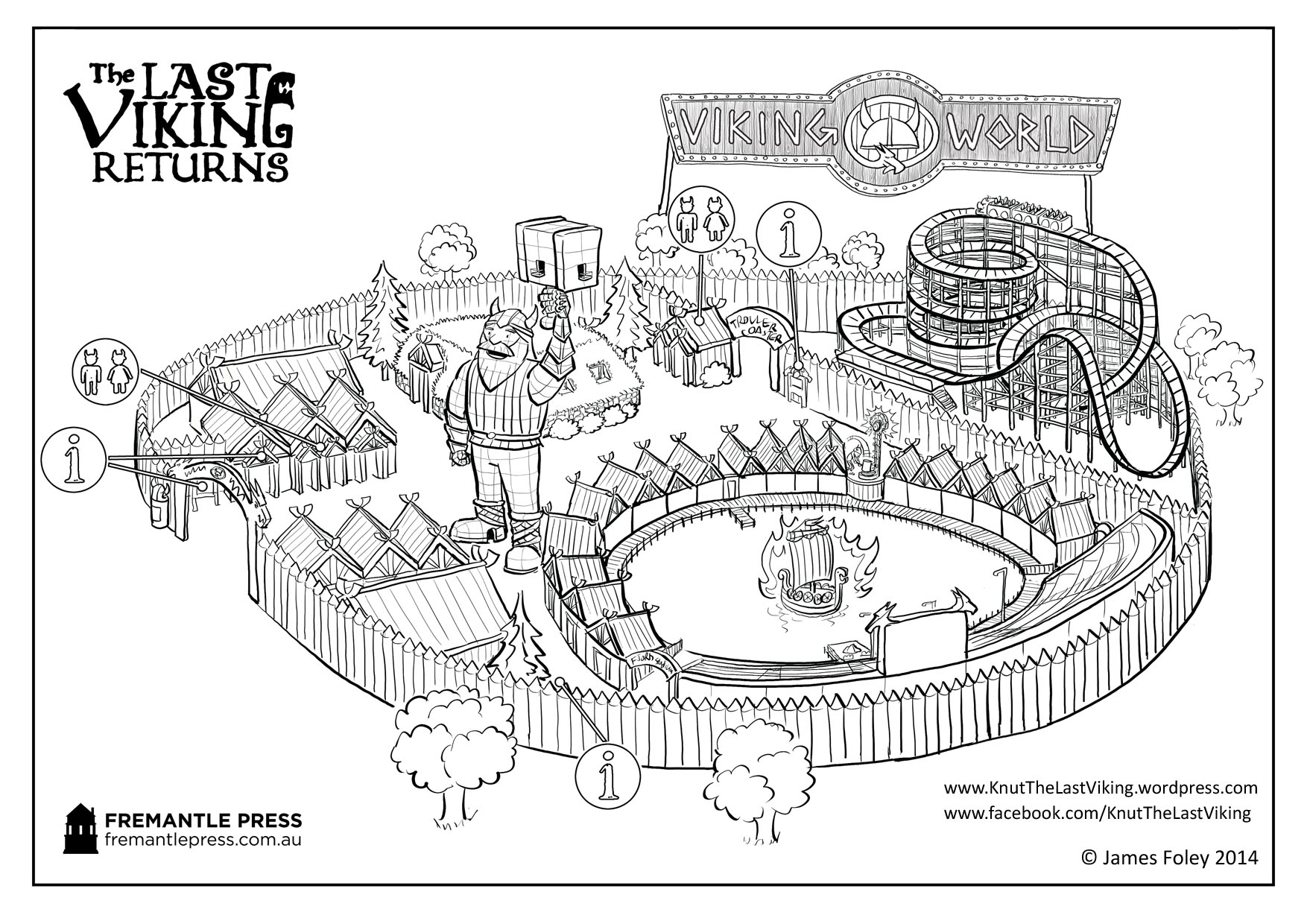 Fun Viking Activites For Kids Sketch Coloring Page
