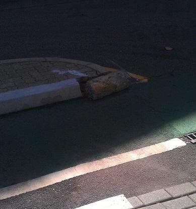 broken curb bike paddy mall carpark cropped