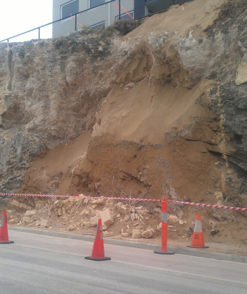 east st retaining wall collapse