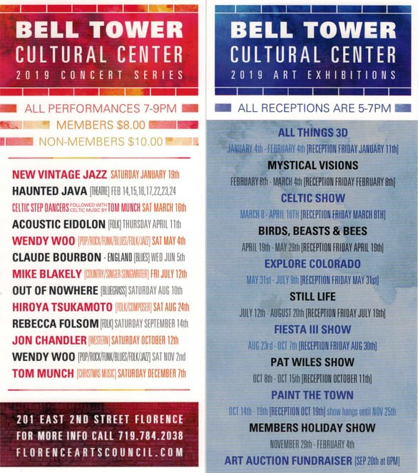 Bell Tower Cultural Center 2019 Schedule