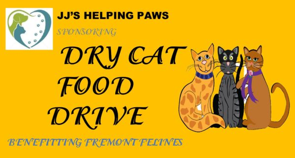 JJ's Helping Paws Dry Cat Food Drive