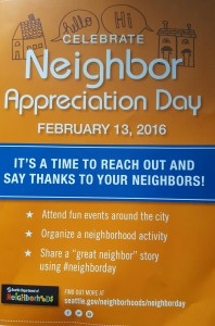 Neighbor apprec day 2016