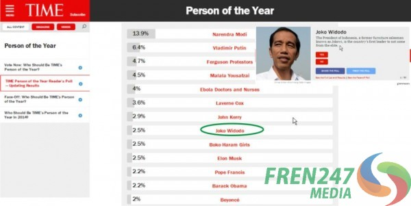Jokowi Person of the years
