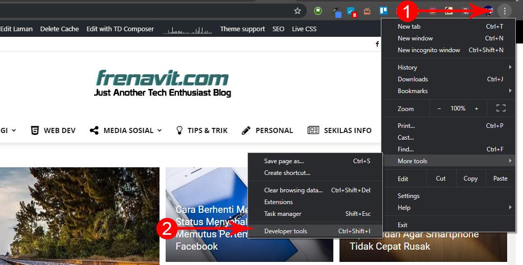 Screenshot di Google Chrome