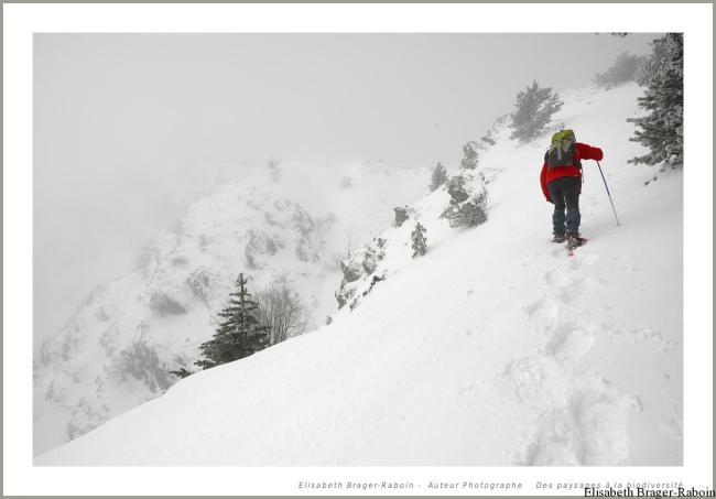 La montée vers l'Observatoire du Mont Aigoual