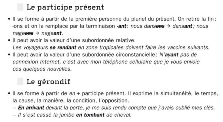 Participe present - gerondif