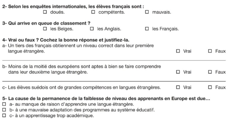 French education questions