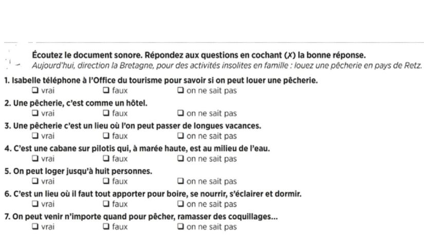 French conversation about touristic information
