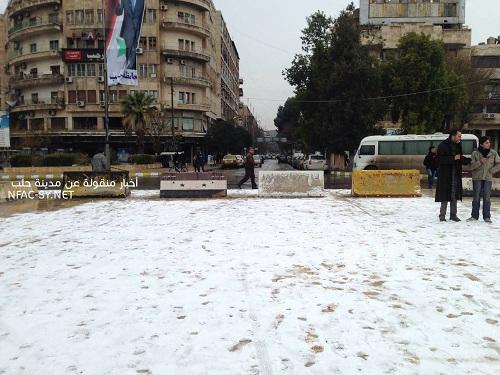 Le retour à la normale dans les quartiers reconquis de l'est d'Alep: place Saad allah Jaberi
