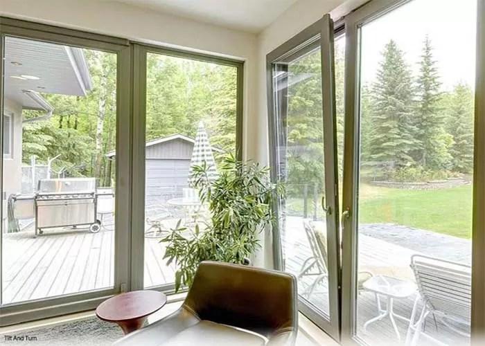 inclinaison en aluminium de tissu pour rideaux horizontal et isolation phonique vitree par double de windows de tour