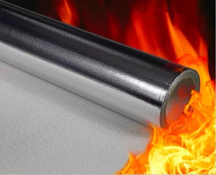 frottement exterieur eleve aluminise du tissu al7628 de fibre de verre d isolation thermique