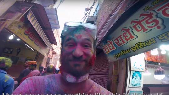 Où célébrer la fête des couleurs Holi en Inde ?