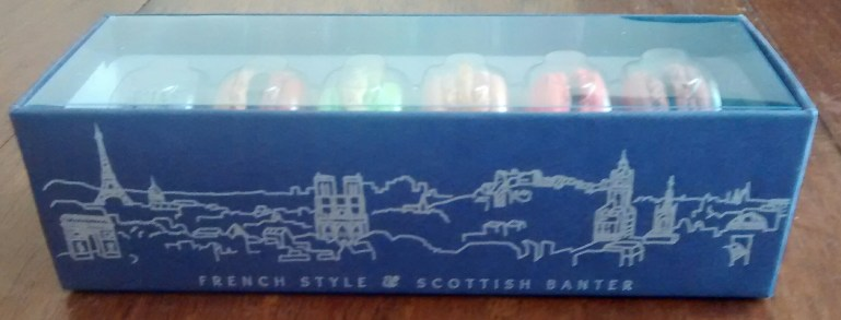 Mademoiselle Macaron box from side
