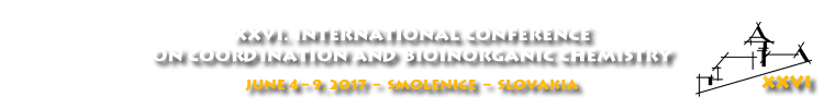 [Expired] XXVI. International Conference on Coordination and Bioinorganic Chemistry (ICCBIC) — registration by March 31, 2017.