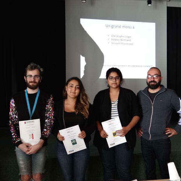 Antoine Hoste, Célia Achaibou, Kariyawasam Kalani et Christophe Leger
