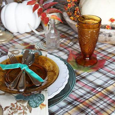 Fall Tablescape in Warm Neutrals