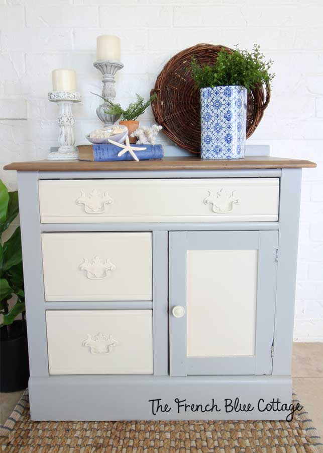 Dixie Belle paint makeover washstand.