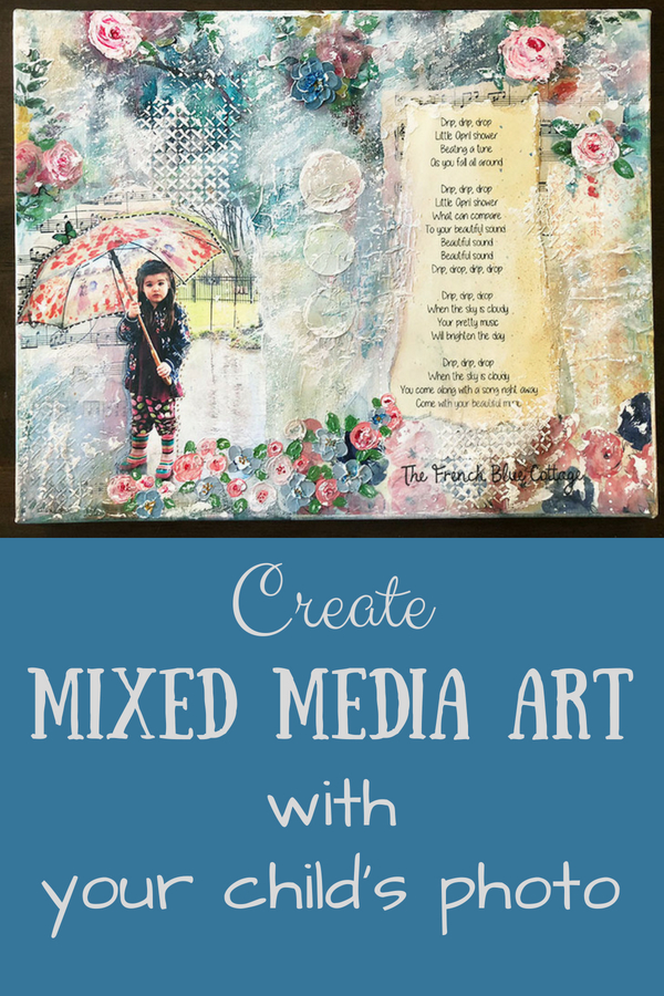 Create a mixed media art collage with a photo.