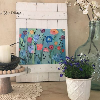 Hang your own handmade art in vignettes around your home to show your unique personality.