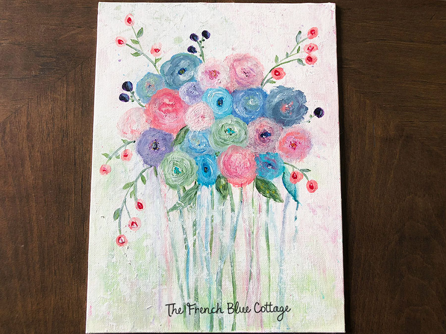 You can learn to paint these abstract flowers with a drippy look using a tutorial from a book.