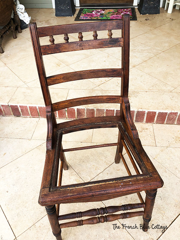 old chair with hemp oil