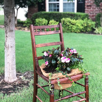 Trash to Treasure: the Easiest DIY Chair Planter