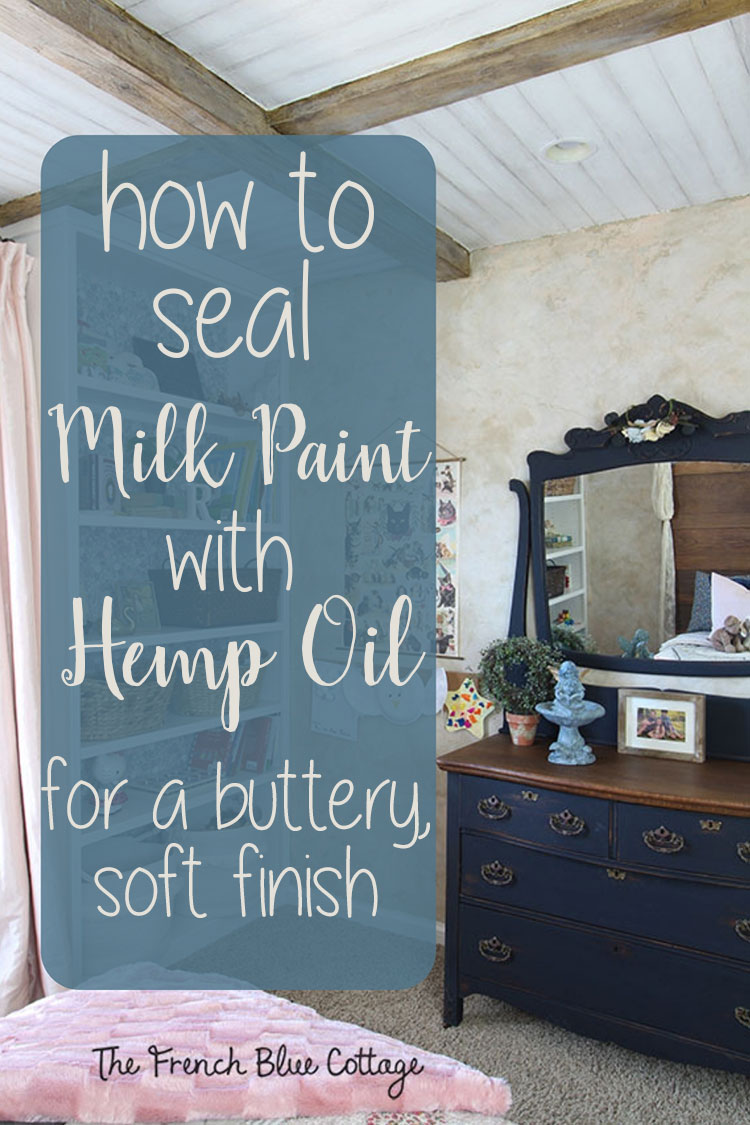 seal milk paint with hemp oil pin