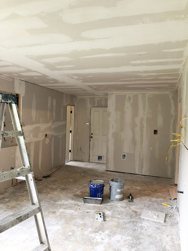 new drywall kitchen