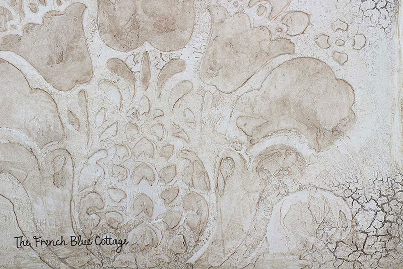 stenciled wall plaster