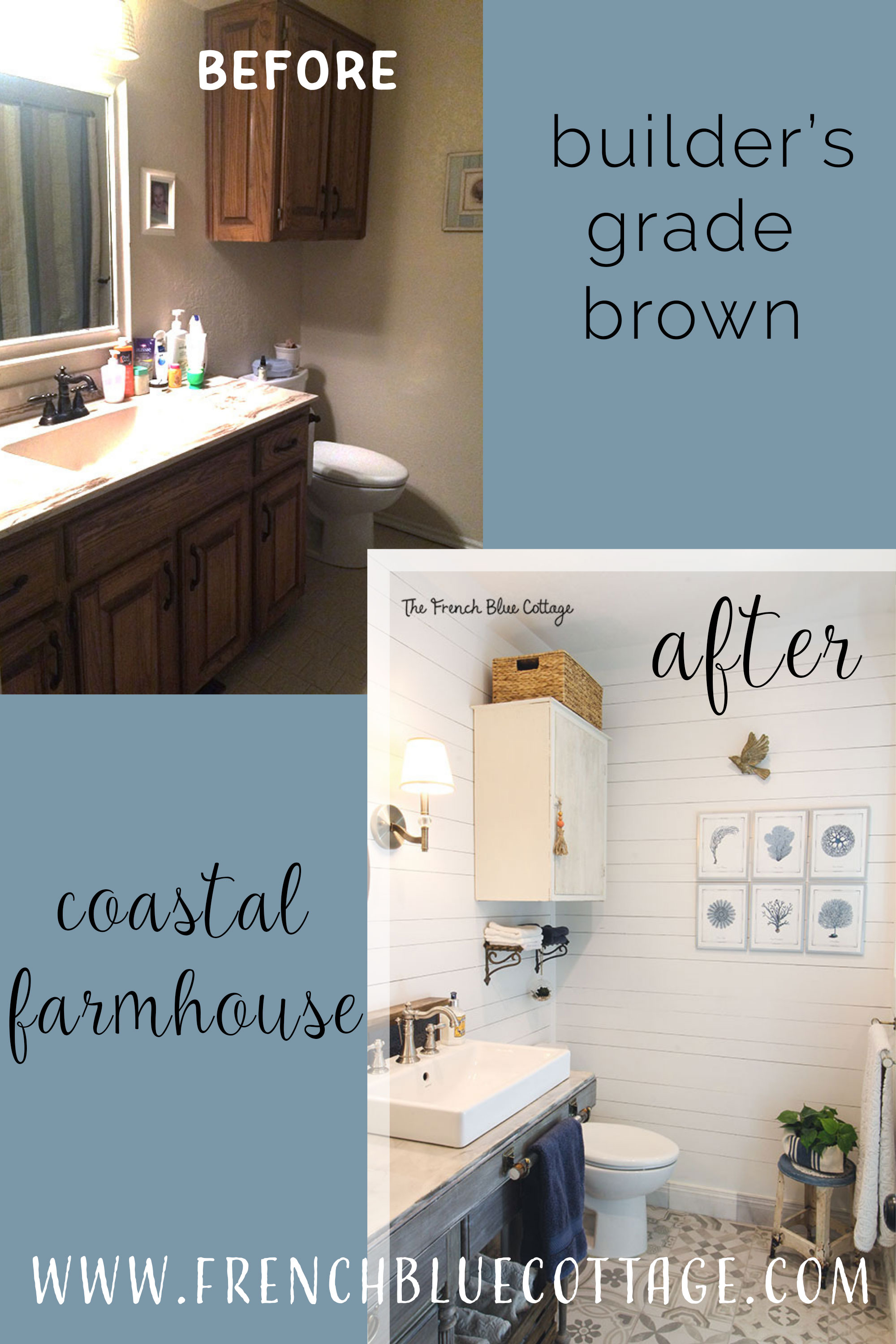 coastal farmhouse bathroom before and after