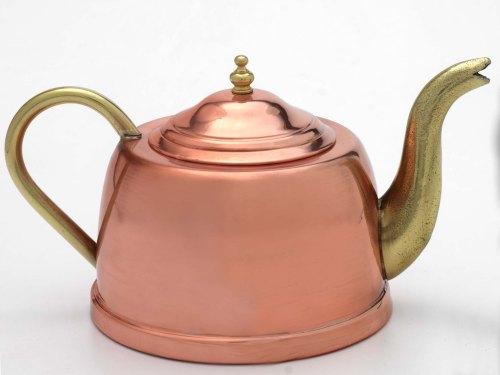 1.5l Copper Tea Pot With Brass Spout And Handle Cu031