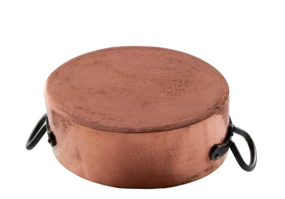 Copper Dutch Oven Oval Roaster Hammered