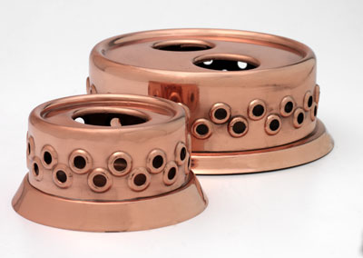 Copper Pot_Warmer with one candle holder